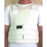 Concealable Bulletproof Vest Level III-A color White made by Marom Dolphin