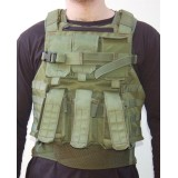 BA8029 +  2XPLFF = AMRAN - Molle External tactical Body armor -  with 2 Full Face  Stand Alone plates level III (3) made of Ceramic