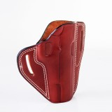 """The Casual"" KIRO Holsters Belt Slide Two Slot Low-Profile Leather Holster for Glock 21"