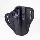 """The Casual""  KIRO Holsters Belt Slide Two Slot Low-Profile Leather Holster for S&W M&P 40 4.25"