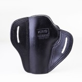 """The Casual"" KIRO Holsters Belt Slide Two Slot Low-Profile Leather Holster for Bulgarian Makarov"