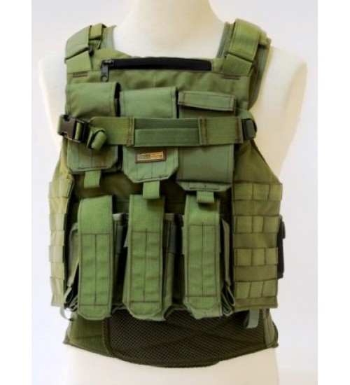 BA8028  Amran fully Modular Armor Carrier for Military Use made by Marom Dolphin (Green color only available)